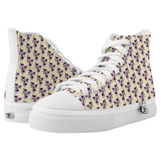 Funky Luxury Royal Blue Pattern High Top Shoes