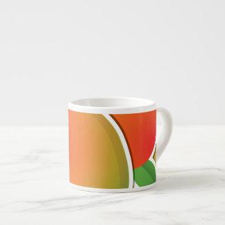 Funky mango espresso cup
