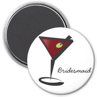 Funky martini Fun Bridesmaid Favors Magnet