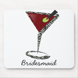 Funky martini Fun Bridesmaid Favors Mouse Pad