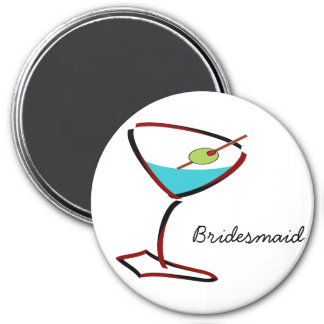 Funky martini red Bridesmaid Favors Magnet