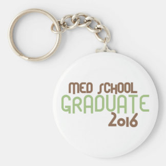 Funky Med School Graduate 2016 (Green) Basic Round Button Key Ring