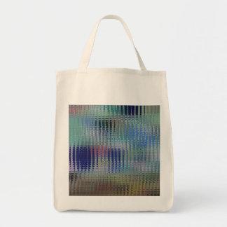 Funky Metallic Glass Abstract Canvas Bag