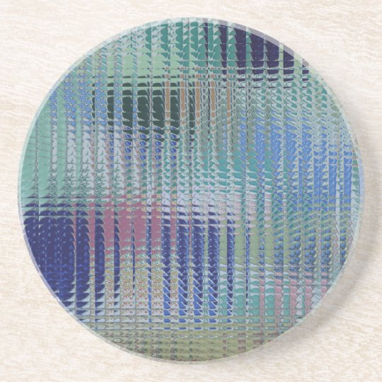 Funky Metallic Glass Abstract Beverage Coasters