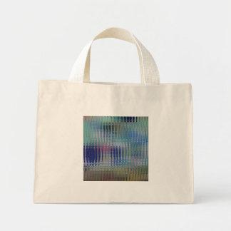 Funky Metallic Glass Abstract Mini Tote Bag