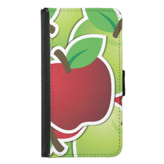 Funky mixed apples samsung galaxy s5 wallet case