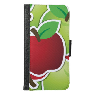 Funky mixed apples samsung galaxy s6 wallet case