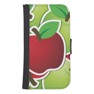 Funky mixed apples samsung s4 wallet case
