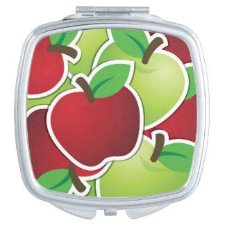 Funky mixed apples vanity mirror