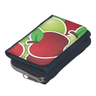 Funky mixed apples wallets