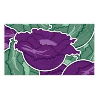 Funky mixed cabbage pack of standard business cards