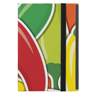 Funky mixed chilli peppers case for iPad mini