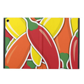 Funky mixed chilli peppers cover for iPad air