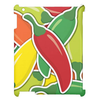 Funky mixed chilli peppers cover for the iPad 2 3 4