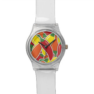Funky mixed chilli peppers watch