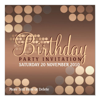 Funky Mocha Latte Party Birthday Invitation
