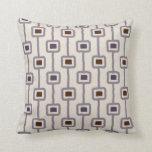 Funky Mod Squares in Purple Plum Mauve Cushion