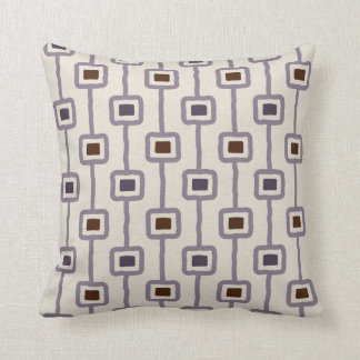 Funky Mod Squares in Purple Plum Mauve Cushion