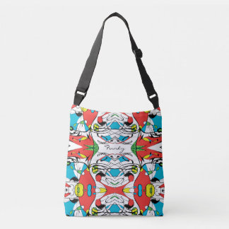 FUNKY Modern Abstract Pattern Custom Text Tote Bag