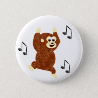 Funky Monkey 6 Cm Round Badge