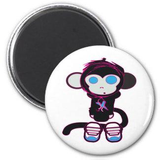 Funky Monkey by HusbandsRock 6 Cm Round Magnet