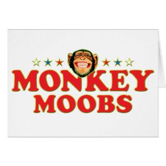 Funky Monkey Moobs Greeting Card