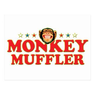 Funky Monkey Muffler Postcard