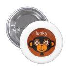 Funky Monkey Pinback Buttons