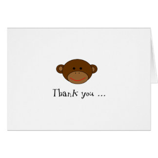 Funky Monkey Thank You Note Card