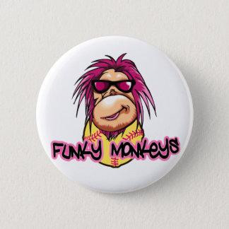 Funky Monkeys 6 Cm Round Badge