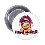 Funky Monkeys Buttons