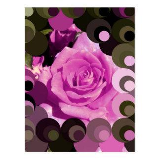 Funky Mosaic Rose I Postcard