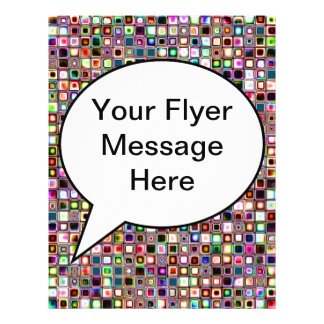 Funky Mosaic Tiles Pattern With Jewel Tones Flyers