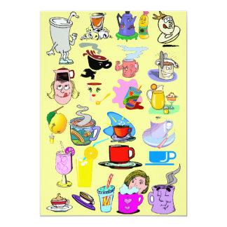 Funky mugs 13 cm x 18 cm invitation card