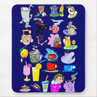 Funky mugs mouse pad
