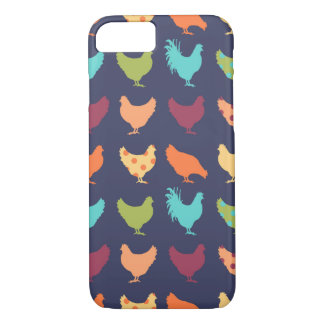 Funky Multi-colored Chicken Pattern iPhone 7 Case