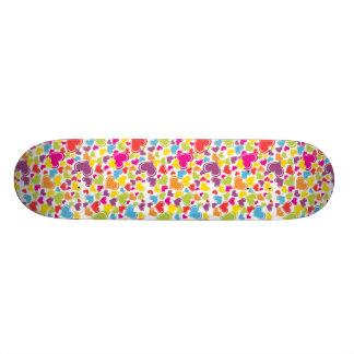 Funky Multi Colored Hearts Design Skate Boards