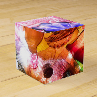 Funky multi coloured glass image gift box