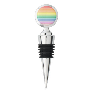 funky multicolour stripe wine stopper