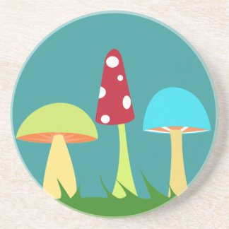 Funky Mushrooms Coaster