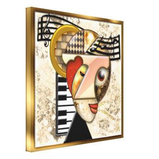 Funky Music - A Surrealistic Portrait Stretched Canvas Print
