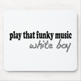 Funky Music White Boy Mouse Mat