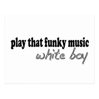 Funky Music White Boy Postcard