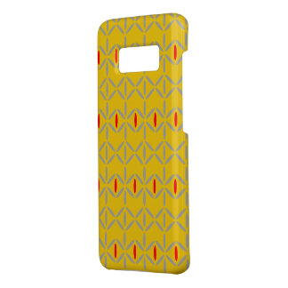 Funky mustard yellow red phone case