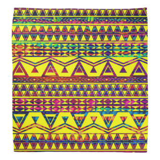 Funky Neon Trendy Aztec Pattern Bandana