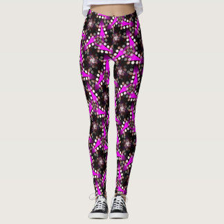 Funky Noir Hot Pink Leggings ★Psydefx★