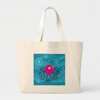 Funky Octopus Large Tote Bag