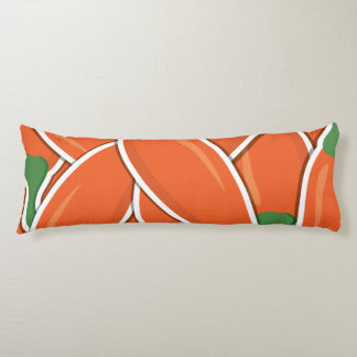 Funky orange chilli peppers body cushion