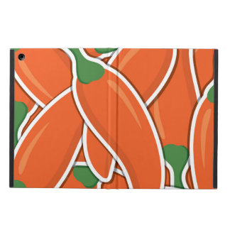 Funky orange chilli peppers iPad air cover
