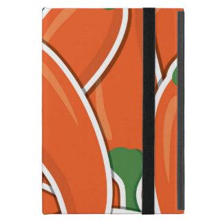 Funky orange chilli peppers iPad mini cover